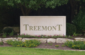 Treemont entrance sign